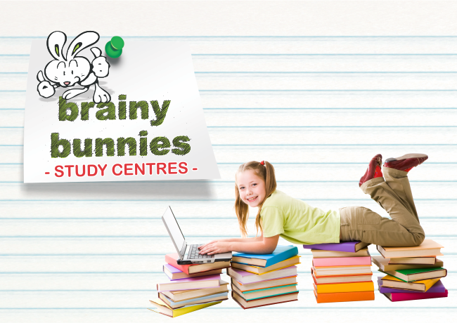 Brainy Bunnies Study Centre – Logo design & marketing material