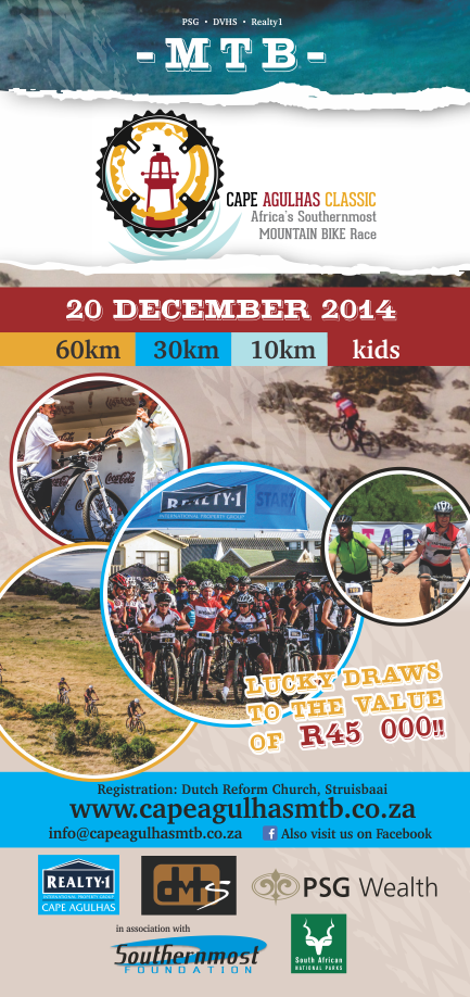 Cape Agulhas Classic MTB – Design for advertisement & pamphlets 2014