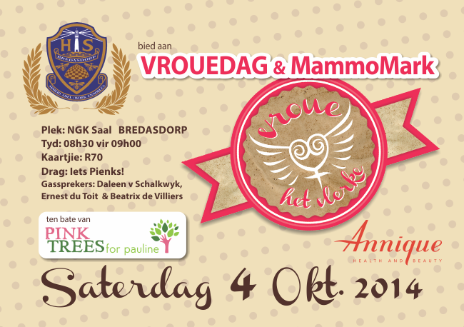 Vroue het Vlerke – Logo design & Marketing material for an charity event