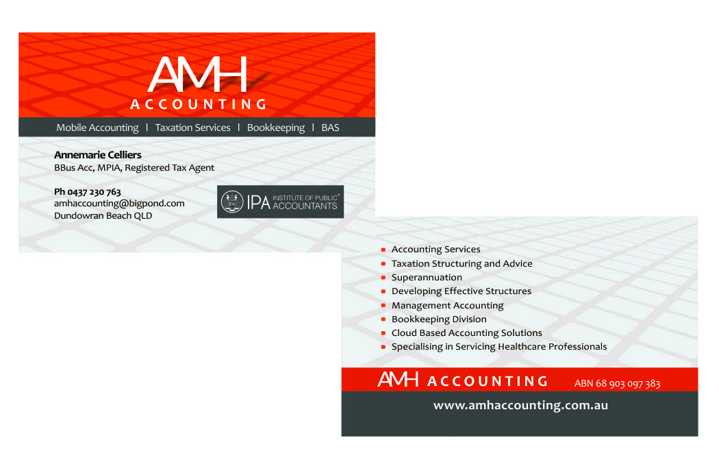 AMH Accounting – Logo re-vamp