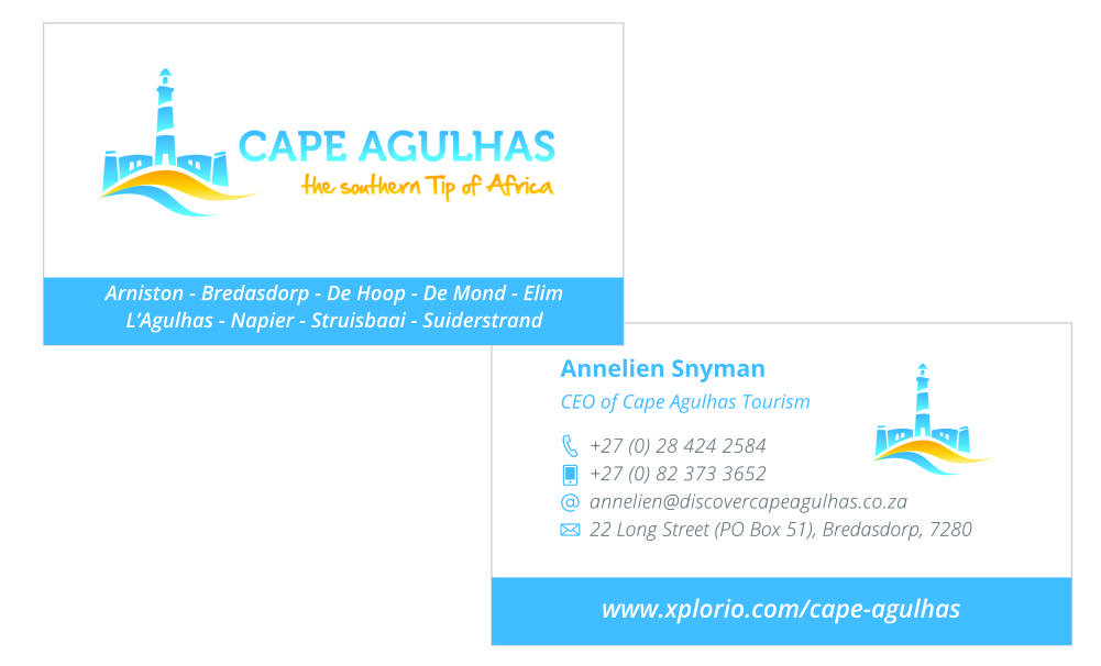 Cape Agulhas Tourism – Business card printing