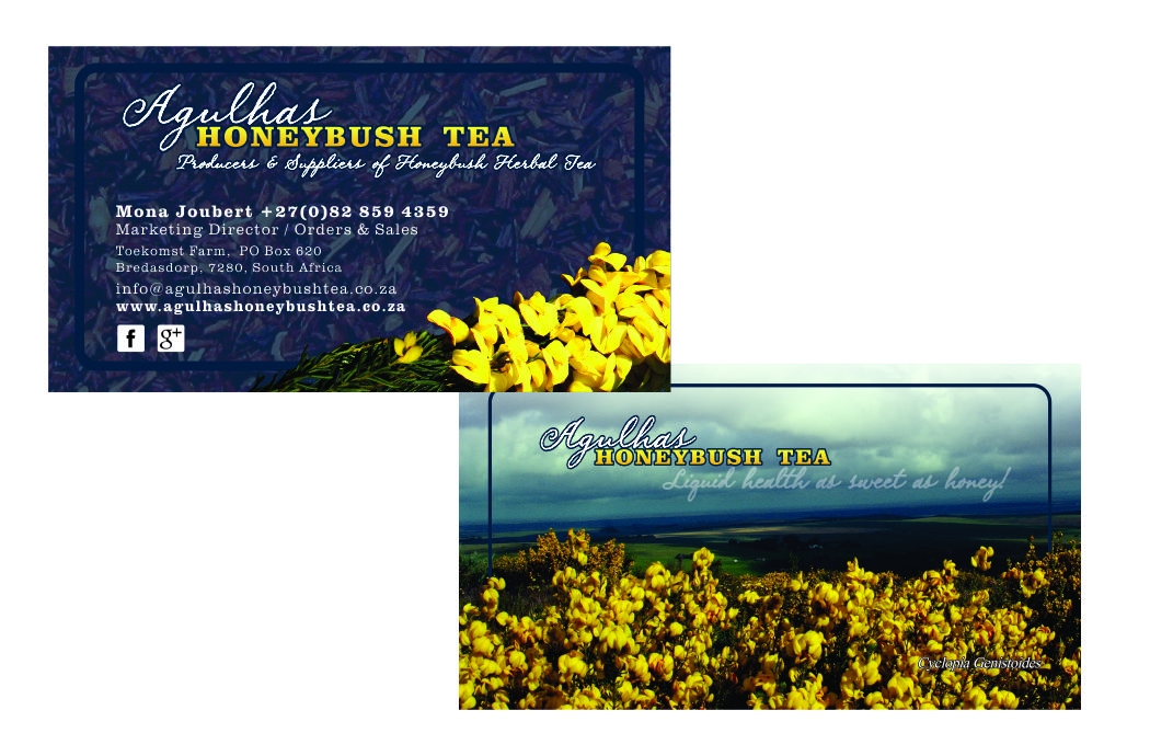Agulhas Honeybsuh Tea – Re-vamp of existing logo & printing material